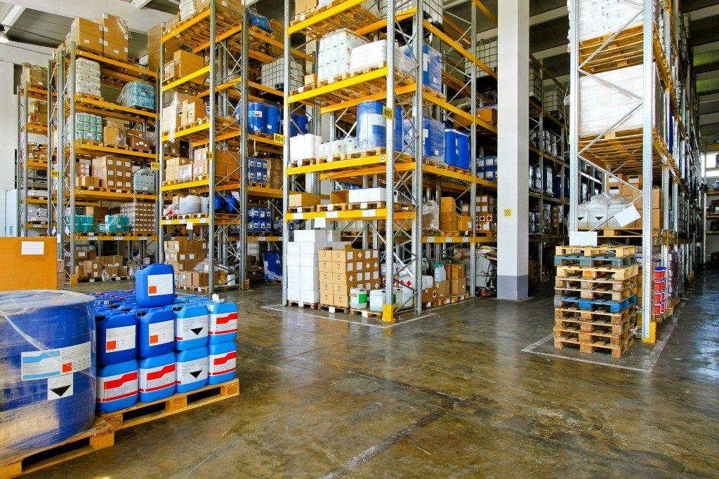Warehouse chemical storage
