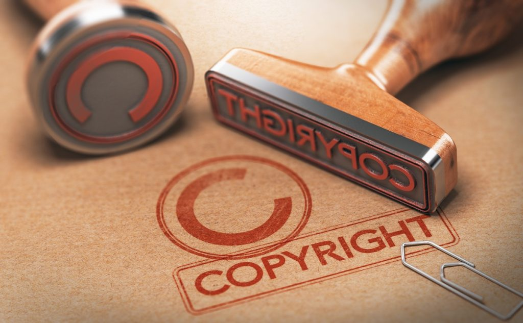 Copyright stamp concept