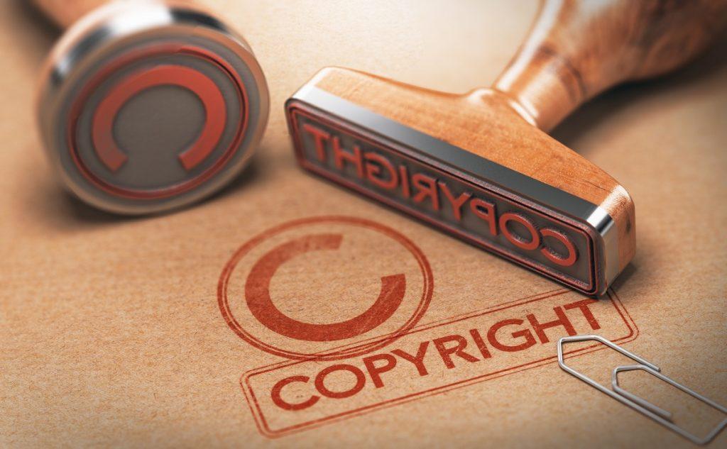 Copyright stamp concept